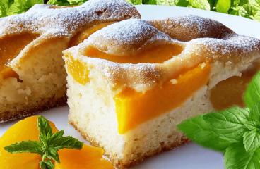 Prăjitură cu Caise sau Piersici (Prăjitură cu Fructe din Compot în 12 Pași)<span class=