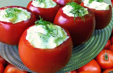 Roșii Umplute cu Salată de Ouă (Aperitive Spectaculoase în 11 Pași)<span class=