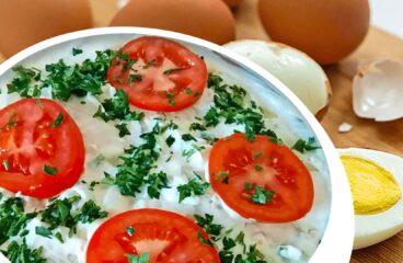 Salată de Cartofi cu Maioneză și Ou (Salată Orientală în 13 Pași)<span class=