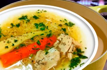 Supă de Pui cu Fidea și Legume în 13 Pași<span class=