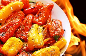 Salată de Ardei Copți cu Oțet în 5 Pași<span class=