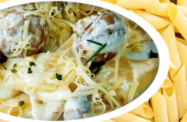 Paste cu Ciuperci și Smântână (Rețetă de Paste în 16 Pași)<span class=